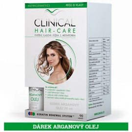 CLINICAL HAIR-CARE 90 tobolek + Arganový olej ZDARMA