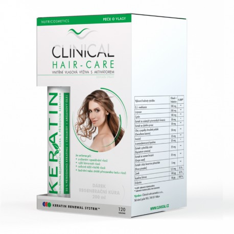 CLINICAL HAIR-CARE 120 tobolek + Keratin regenerační kúra zdarma